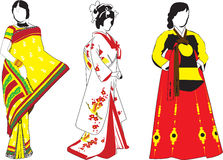 Muchachas asiáticas Imagen de archivo