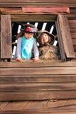 Muchachas aventureras del país Foto de archivo libre de regalías