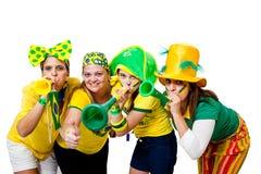Muchachas brasileñas que celebran Foto de archivo libre de regalías