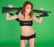 Muchachas con los armas Foto de archivo