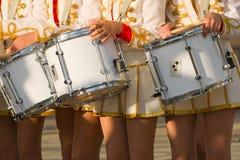 Muchachas con los tambores Imagen de archivo