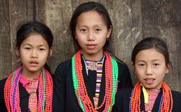 Muchachas de Akha, Phongsaly, Laos Fotos de archivo