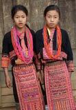 Muchachas de Akha, Phongsaly, Laos Imagen de archivo libre de regalías