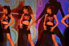 Muchachas de baile atractivas Imagen de archivo libre de regalías