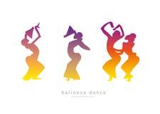 Muchachas de baile del Balinese stock de ilustración