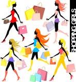 Muchachas de compras Imagenes de archivo