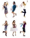 Muchachas de compras Fotografía de archivo libre de regalías