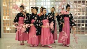 Muchachas de geisha almacen de metraje de vídeo