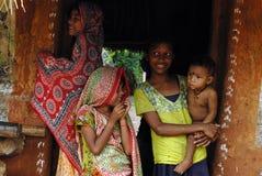 Muchachas de la aldea Fotografía de archivo libre de regalías