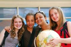 Muchachas de la escuela Foto de archivo libre de regalías