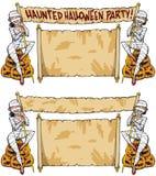 Muchachas de la momia del partido de casa encantada de Halloween libre illustration