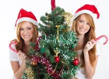 Muchachas de la Navidad Foto de archivo libre de regalías