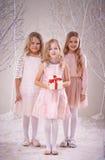 Muchachas de la Navidad Fotografía de archivo libre de regalías