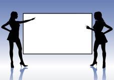 Muchachas de la presentación libre illustration