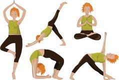 Muchachas de la yoga Imágenes de archivo libres de regalías