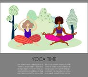 Muchachas de la yoga del vector libre illustration