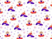 Muchachas de la yoga del vector stock de ilustración
