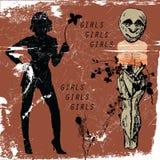 Muchachas de las muchachas de las muchachas Imagenes de archivo