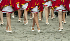 Muchachas de las piernas de los bailarines Fotografía de archivo libre de regalías