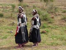 Muchachas de Maasai Imagenes de archivo