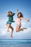 Muchachas de salto Imagen de archivo libre de regalías