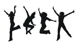 Muchachas de salto libre illustration