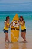Muchachas del aire de la NOK durante el quiksilver 2010 Imagenes de archivo