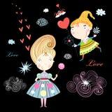 Muchachas del amor libre illustration