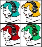 Muchachas del auricular imágenes de archivo libres de regalías