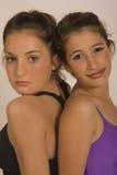 Muchachas del ballet y de la gimnasia en portrat fotos de archivo