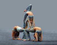 Muchachas del contorsionista Fotografía de archivo libre de regalías