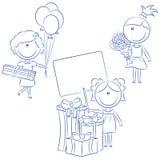 Muchachas del día de fiesta Imagen de archivo