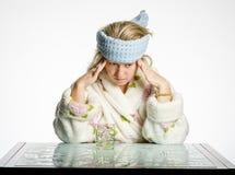 Muchachas del dolor de cabeza Imagen de archivo libre de regalías