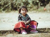 Muchachas del grupo étnico Hmong de Vietnam imágenes de archivo libres de regalías