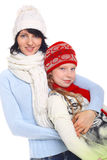 Muchachas del invierno Fotografía de archivo libre de regalías