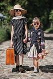Muchachas del niño que viajan fotografía de archivo
