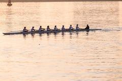 Muchachas Eights del rowing de la regata Fotografía de archivo