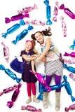 Muchachas en caramelos Imagen de archivo libre de regalías