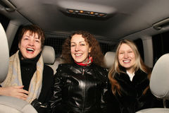 Muchachas en coche Fotos de archivo