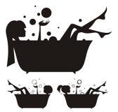 Muchachas en el baño Imagen de archivo libre de regalías