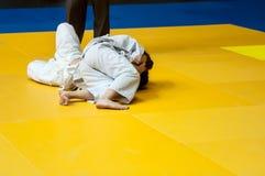 Muchachas en judo Foto de archivo libre de regalías