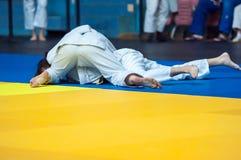 Muchachas en judo Imágenes de archivo libres de regalías