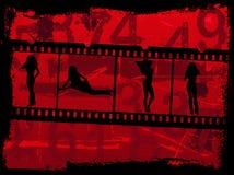Muchachas en la película Fotografía de archivo libre de regalías