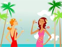 Muchachas en la playa libre illustration