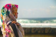 Muchachas en la playa Fotos de archivo