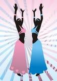 Muchachas en los juegos, danza del este Imagen de archivo libre de regalías