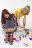 Muchachas en un creativo Imagen de archivo libre de regalías