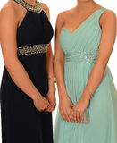 Muchachas en vestidos del baile de fin de curso Imágenes de archivo libres de regalías