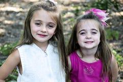 Muchachas felices Imagen de archivo libre de regalías