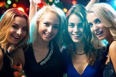 Muchachas felices en una Navidad Imagen de archivo